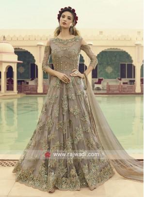 Floor Length Anarkali Suit with dupatta