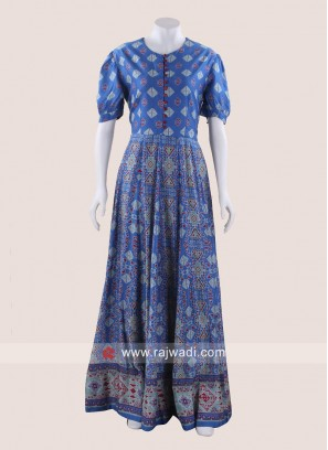 Floor Length Cotton Maxi Gown