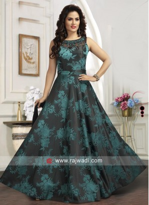 Floor Length Designer Anarkali Suit with Dupatta