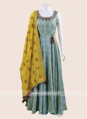 Floor Length Embroidered Anarkali Salwar Kameez