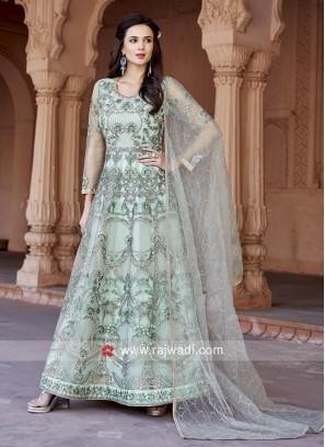 Floor Length Embroidered Anarkali Suit