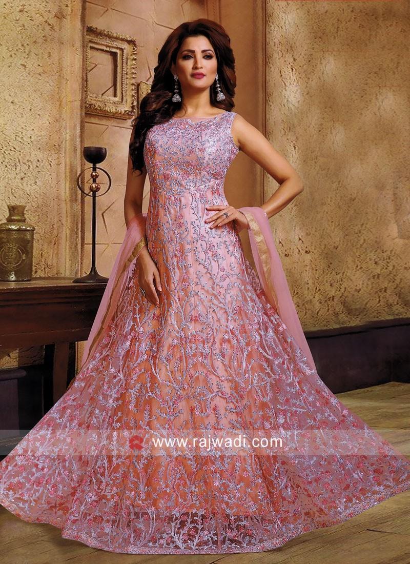 Floor Length Heavy Work Anarkali Suit