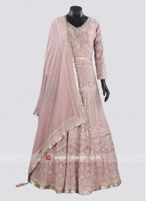 Floor Length Heavy Work Anarkali Suit