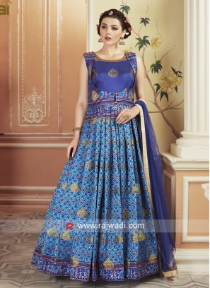 Floor Length Patola Printed Gown