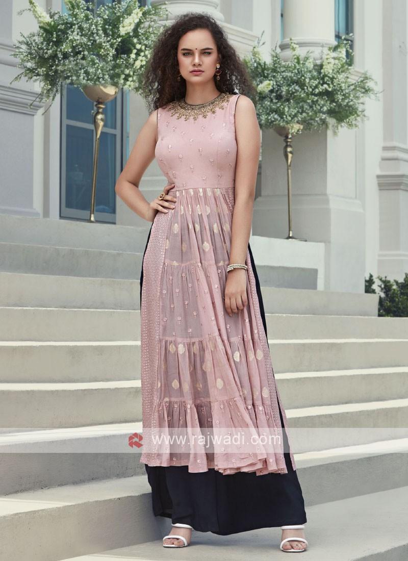 Floor Length Pink Anarkali Suit