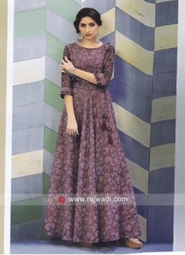 Floor Length Printed Kurti