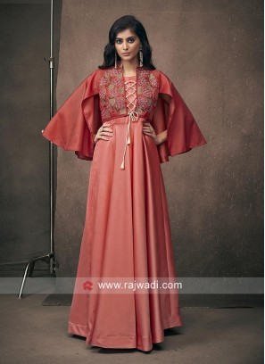 Floor Length Satin Silk Gown
