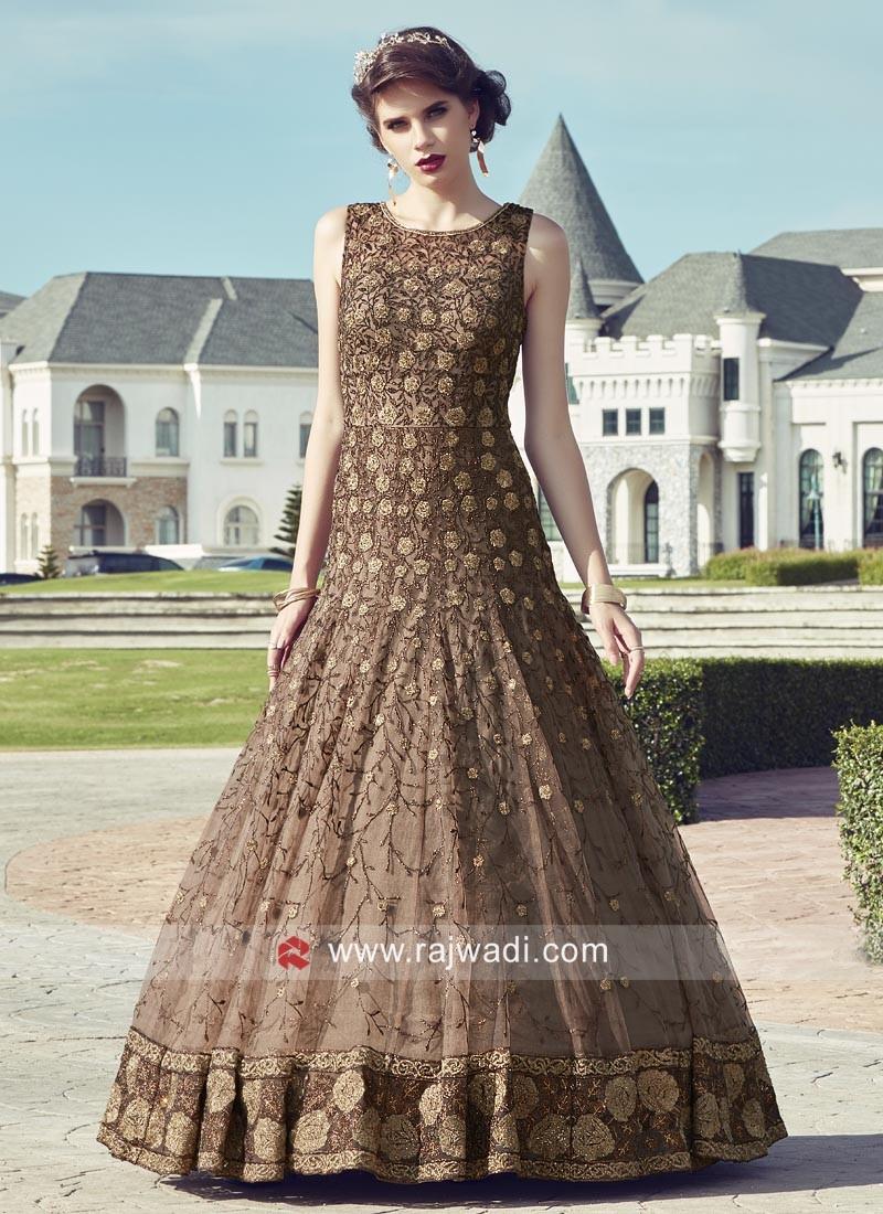Floor Length Stone Work Anarkali Dress