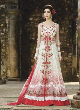 Floor Length Unstitched Salwar Kameez