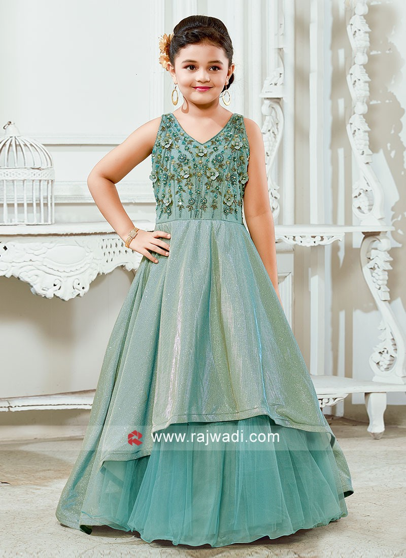 Floor Length Wedding Gown for Girls