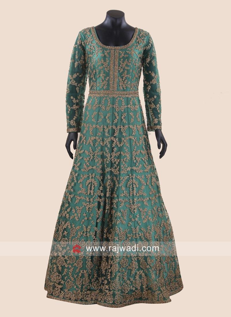 Floor Length Wedding Heavy Gown