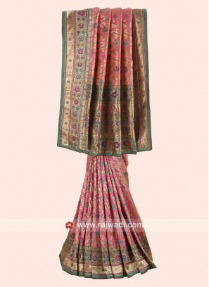 Floral Embroidered Stone Work Saree