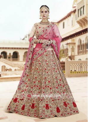 Floral Embroidered Wedding Lehenga Choli