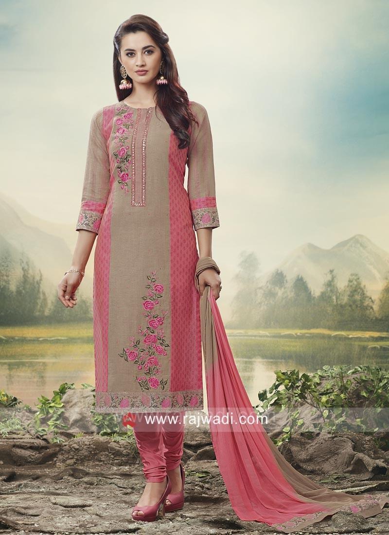 Floral Embroidery Designer Salwar Kameez
