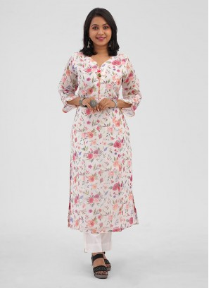 Floral Printed Cotton Pant Style Suits