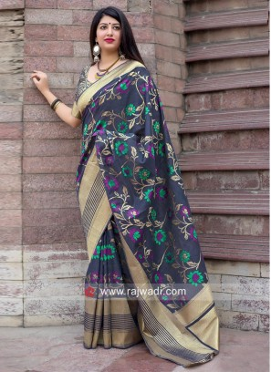 Floral Weaving Reception Saree