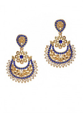 Florid Embellished Royal Earrings