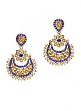 Florid Embellished Royal Earrings