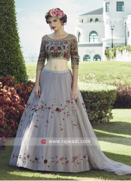 Flower Embroidered Lehenga Choli