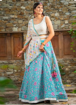 Flower Embroidery Choli Suit