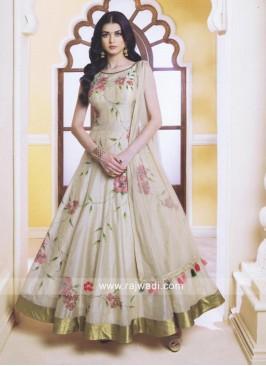 Flower Print Anarkali Salwar Kameez