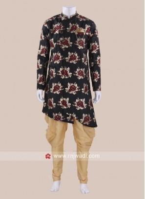 Flower Print Art Silk Indo Western