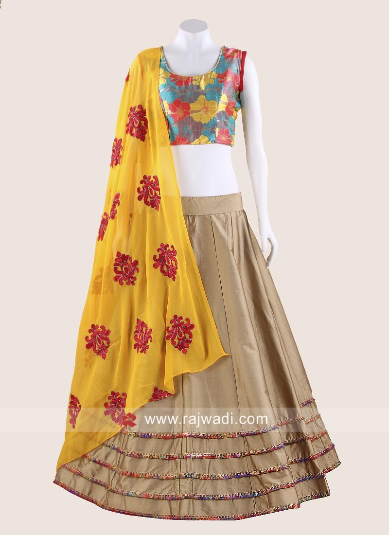 Flower Print Chaniya Choli for Navratri