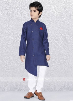 Attractive Dark Blue Kurta Set