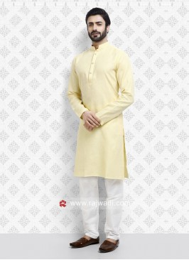 Lemon Yellow Color Kurta Set