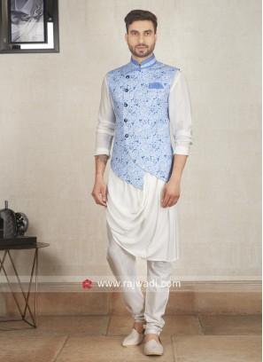 Flower Print Nehru Jacket