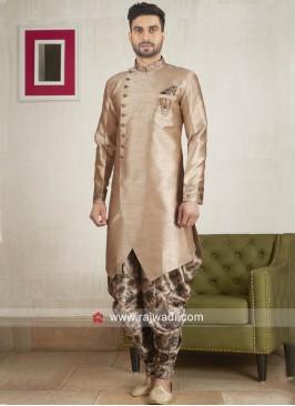 Stylish Golden Patiala Suit