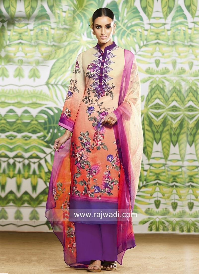 Flower Print Salwar Kameez