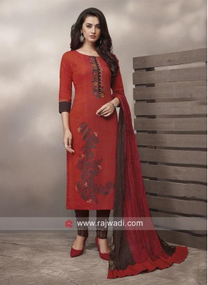 Flower Print Straight Fit Salwar Kameez