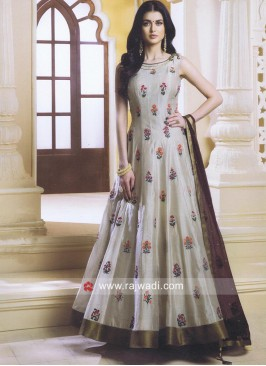 Flower Work Designer Anarkali