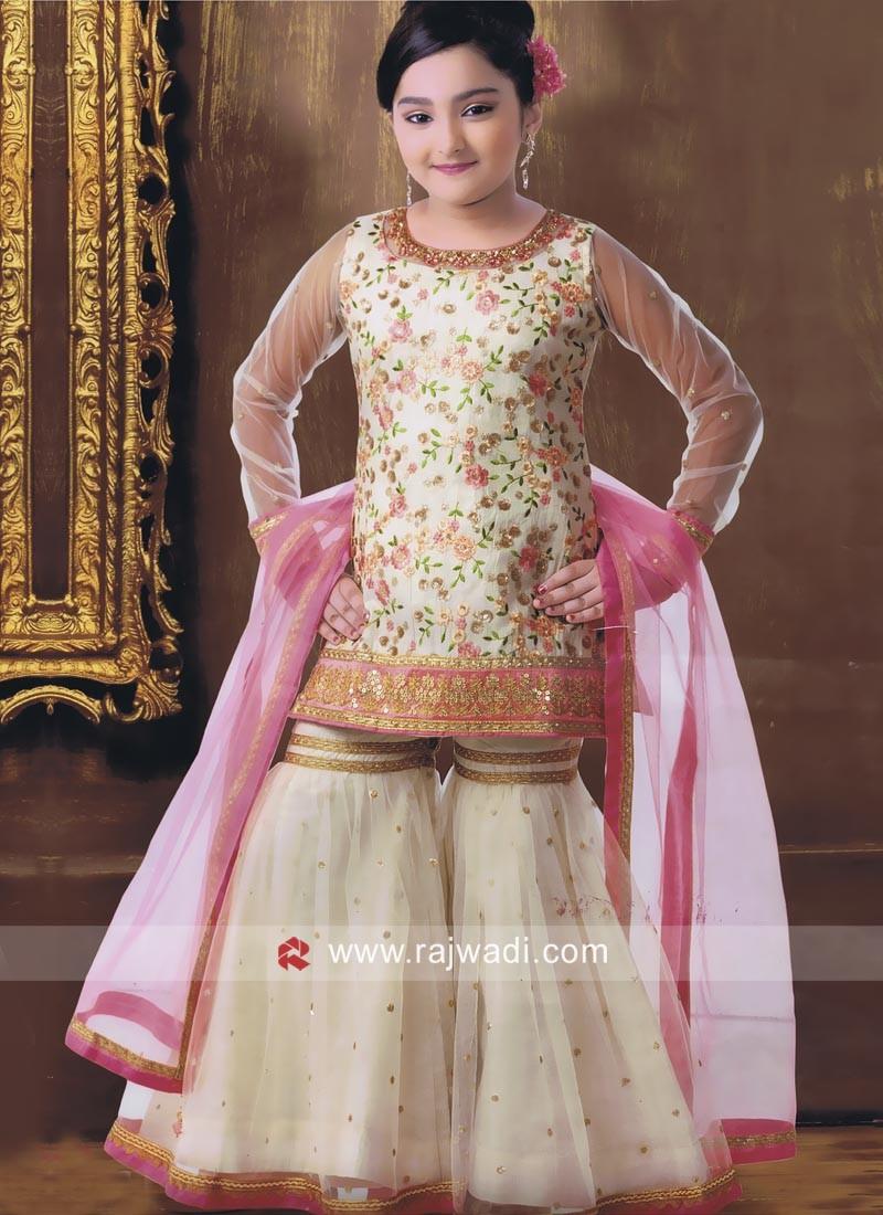 Flower Work Designer Palazzo Salwar Suit