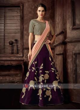 Flower Work Designer Lehenga Choli