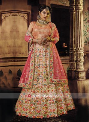 Flower Work Designer Lehenga Choli