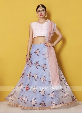 Flower Work Designer Lehenga Set