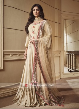 Flower Work Floor Length Anarkali Suit