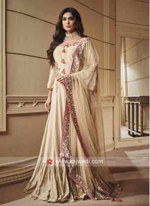 Flower Work Floor Length Anarkali Suit