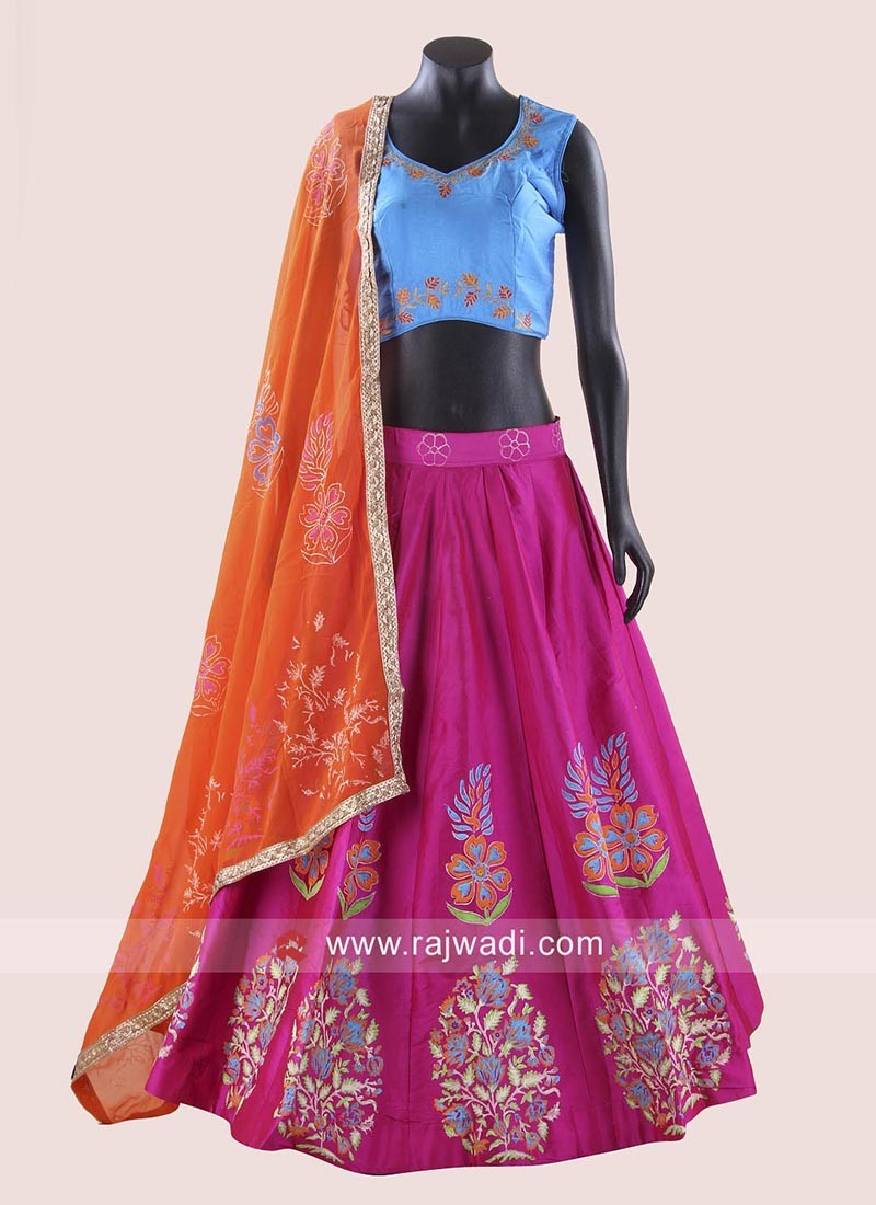 Flower Work Garba Chaniya Choli