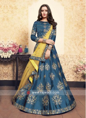 Flower Work Lehenga Choli with Dupatta