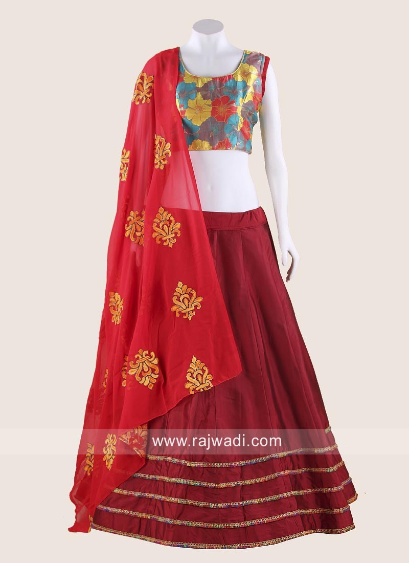 Flower Work Navratri Chaniya Choli