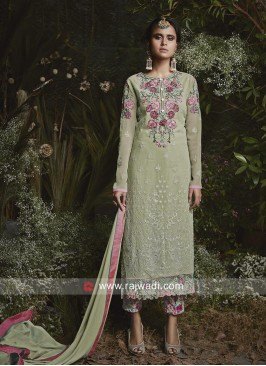 Flower Work Salwar Kameez