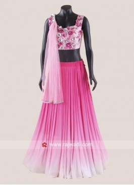 Shaded Lehenga Set with Attached  Dupatta