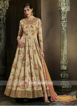 Flower Work Side Slit Salwar Kameez