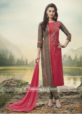 Flower Work Summer Churidar Suit