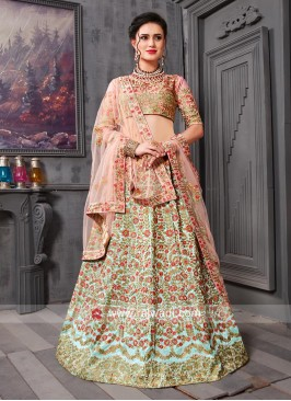 Flower Work Traditional Lehenga Set