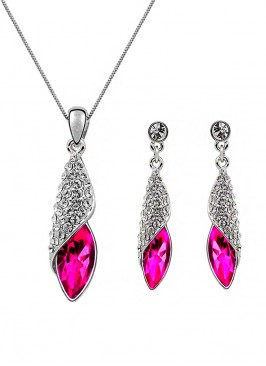 Flush Dropping Silvery Pendant Set