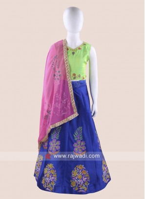 Foil Print Chaniya Choli for Kids
